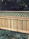 semi private fence with diagonal lattice by elyria fence