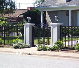 Faux Stone Fence Amp Pillars By Elyria Fence