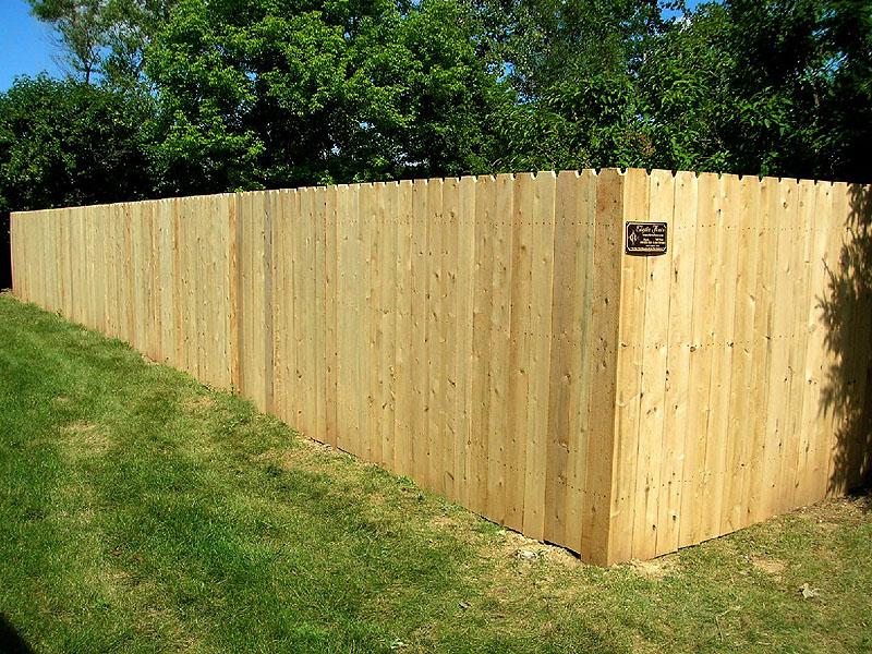 White Cedar Privacy Fence By Elyria Clic Wood