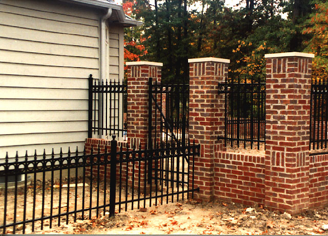 Wrought Iron Picket Fence With Circles Finials By Elyria